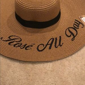 3e9d97b0b62 Accessories - Rosé All Day Embroidered Floppy Sun Hat